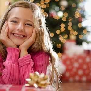 Christmas Dental Tips - Braces image girl