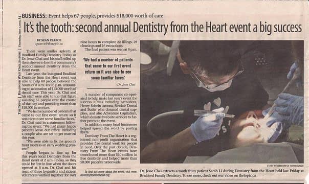 Dentist in Bradford helps less fortunate with free dental: It's the tooth: second annual Dentistry from the Heart event a big success | The Topic
