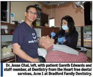 Dentist Bradford - Dentistry from the Heart 2012   photo: Bradford Times