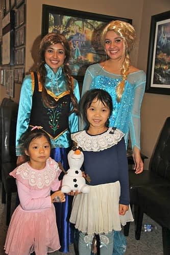 Bradford Family Dentistry Frozen cast members with some friends