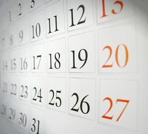 Bradford Family Dental Calendar